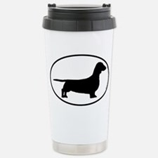 Smooth Dachshund SILHOUETTE Travel Mug