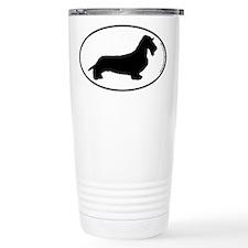 Wirehaired Dachshund SILHOUETTE Ceramic Travel Mug