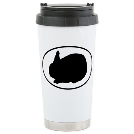 Bunny SILHOUETTE Stainless Steel Travel Mug