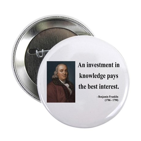 "Benjamin Franklin 21 2.25"" Button (10 pack)"