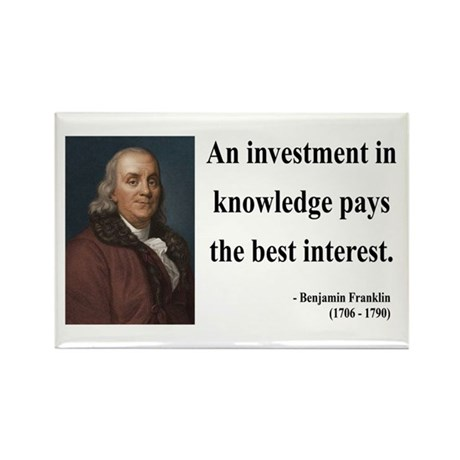 Benjamin Franklin 21 Rectangle Magnet (10 pack)