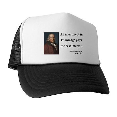 Benjamin Franklin 21 Trucker Hat