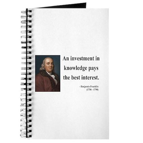 Benjamin Franklin 21 Journal