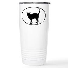 Cat Standing SILHOUETTE Travel Mug