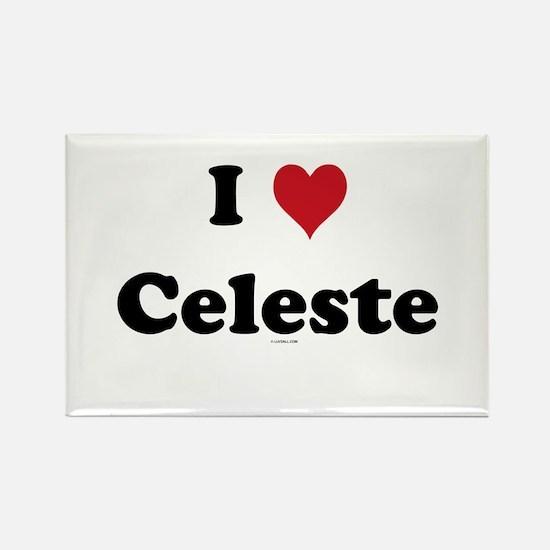 I love Celeste Rectangle Magnet