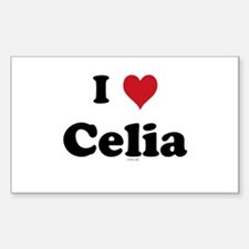 I love Celia Rectangle Bumper Stickers