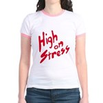 High On Stress Jr. Ringer T-Shirt
