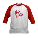 High On Stress Kids Baseball Jersey