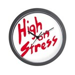 High On Stress Wall Clock