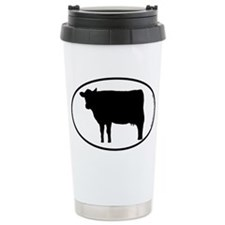Cow SILHOUETTE Ceramic Travel Mug