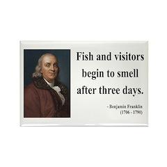 Benjamin Franklin 22 Rectangle Magnet