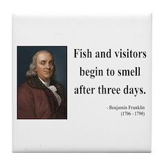 Benjamin Franklin 22 Tile Coaster