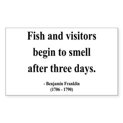 Benjamin Franklin 22 Rectangle Decal