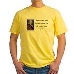 Benjamin Franklin 23 Yellow T-Shirt