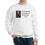 Benjamin Franklin 23 Sweatshirt