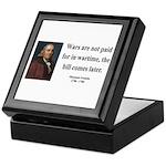 Benjamin Franklin 23 Keepsake Box