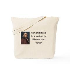 Benjamin Franklin 23 Tote Bag