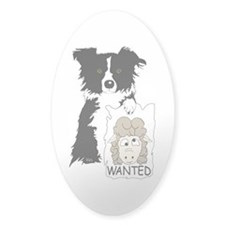 Sheep Wanted Oval Decal