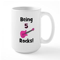 Being 5 Rocks! Pink Mug