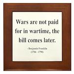 Benjamin Franklin 23 Framed Tile