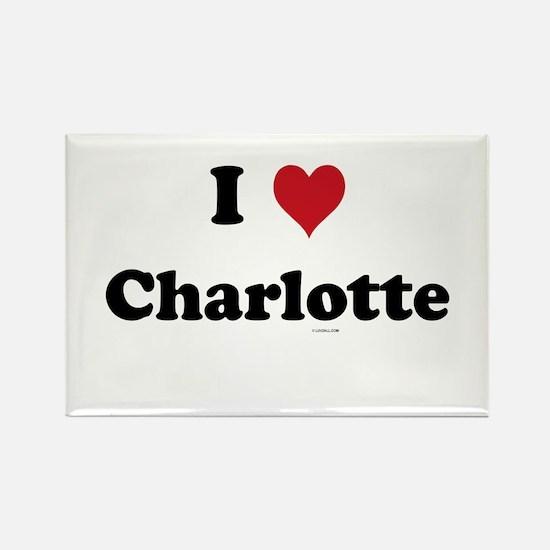 I love Charlotte Rectangle Magnet