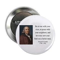 "Benjamin Franklin 24 2.25"" Button (100 pack)"