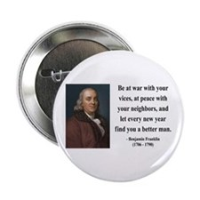 "Benjamin Franklin 24 2.25"" Button"