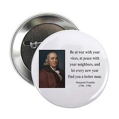 "Benjamin Franklin 24 2.25"" Button"