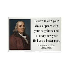 Benjamin Franklin 24 Rectangle Magnet