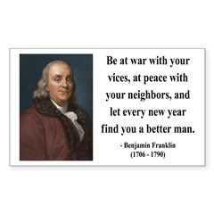 Benjamin Franklin 24 Rectangle Decal