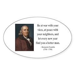 Benjamin Franklin 24 Oval Decal
