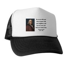Benjamin Franklin 24 Trucker Hat