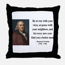 Benjamin Franklin 24 Throw Pillow