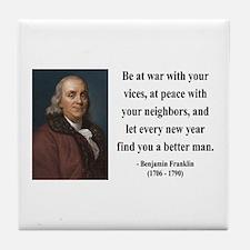 Benjamin Franklin 24 Tile Coaster