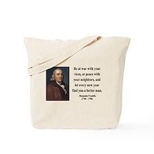 Benjamin Franklin 24 Tote Bag