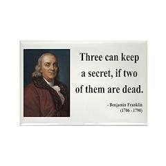 Benjamin Franklin 25 Rectangle Magnet