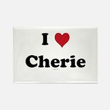 I love Cherie Rectangle Magnet
