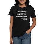 Benjamin Franklin 25 Women's Dark T-Shirt