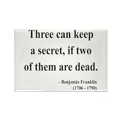 Benjamin Franklin 25 Rectangle Magnet (100 pack)
