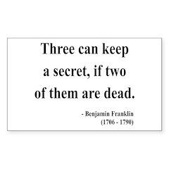 Benjamin Franklin 25 Rectangle Decal