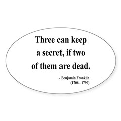 Benjamin Franklin 25 Oval Decal