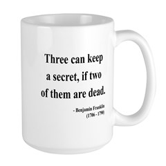 Benjamin Franklin 25 Large Mug