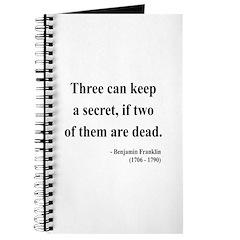 Benjamin Franklin 25 Journal