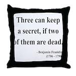 Benjamin Franklin 25 Throw Pillow