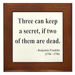Benjamin Franklin 25 Framed Tile