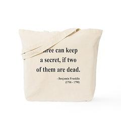 Benjamin Franklin 25 Tote Bag