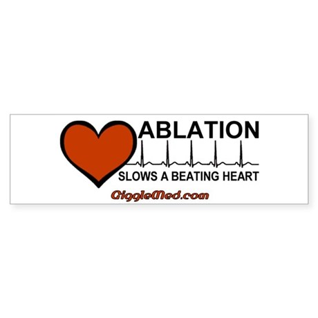Ablation Slows Beating Heart Sticker (Bumper 10 pk