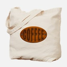 Wood Coffee Plaque Tote Bag