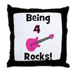Being 4 Rocks! pink Throw Pillow