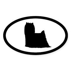 Yorkshire Terrier Oval Sticker (10 pk)